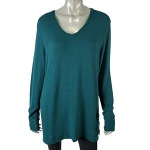 Adrianna Papell Top Large Stretch Tunic Evergreen